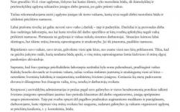 Švietimo, mokslo ir sporto ministrės Jurgitos Šiugždinienės kreipimasis į švietimo bendruomenę